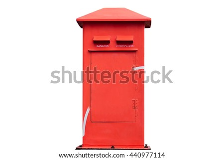 Asia Mail Box ,Thailand style on white background.
