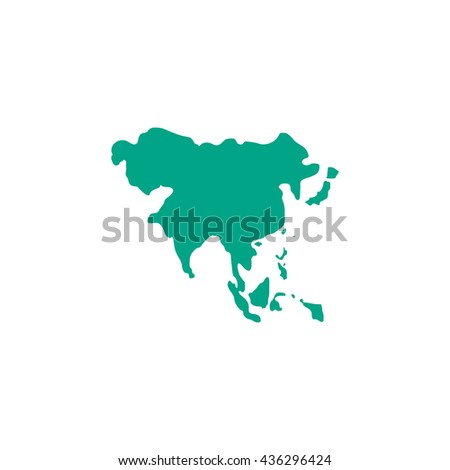 Russia north korea wallpaper stock images royalty free images asia map color simple flat icon on white background gumiabroncs Image collections