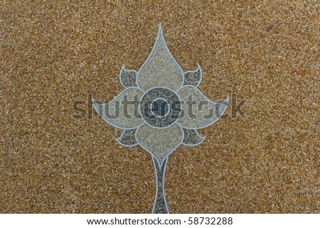 asian art stone pattern - stock photo
