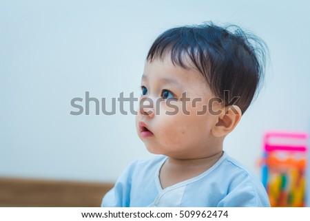 Asian baby cute boy