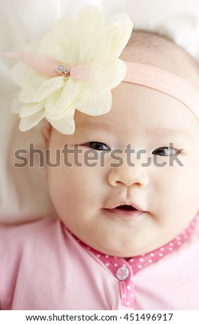 Asian baby,Cute facial expression