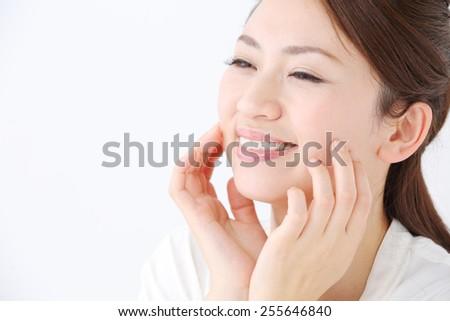 Asian beautiful woman - stock photo