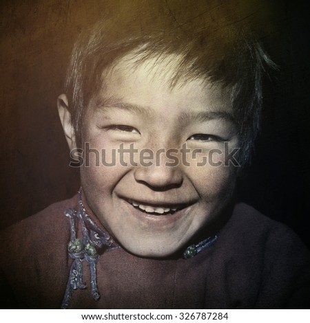 Asian Boy with a Beautiful Smile Cute Concept - stock photo