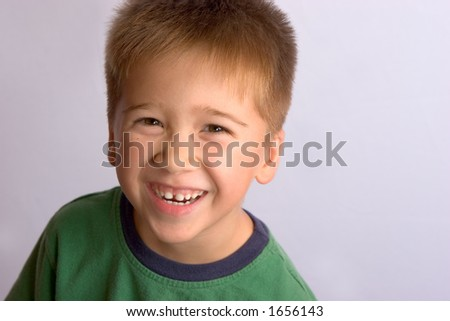 Asian boy with Happy Expression - stock photo
