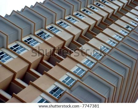 Asian building architecture closeup - stock photo