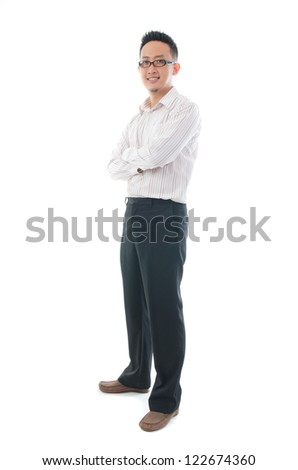 asian business man isolated on white - stock photo