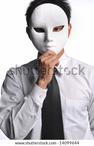 asian business man with mask