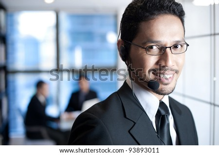 Asian Business Operator - stock photo