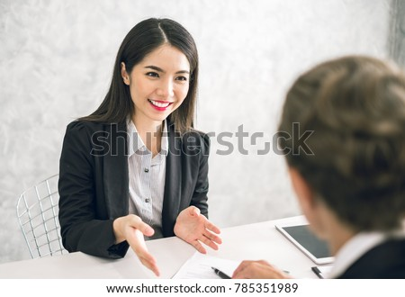 woman interview