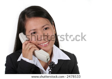Asian Business Woman On the Phone - stock photo