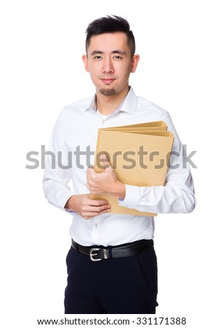 Asian Businessman hold with document work