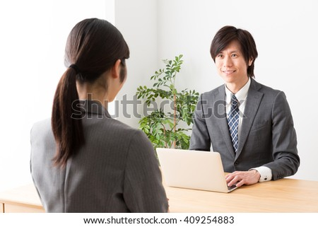 asian businessman working in the office