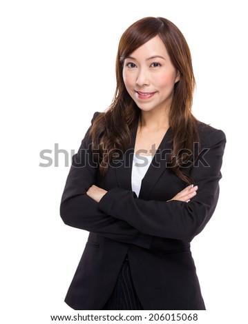 Asian businesswoman portrait - stock photo