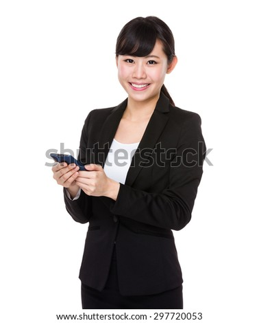 Asian businesswoman use of the cellphone