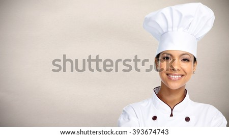 Asian chef woman.
