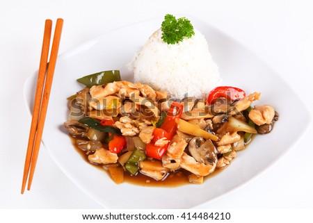 asian chicken - stock photo