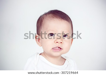 Asian child portrait (soft focus on the eyes) - stock photo