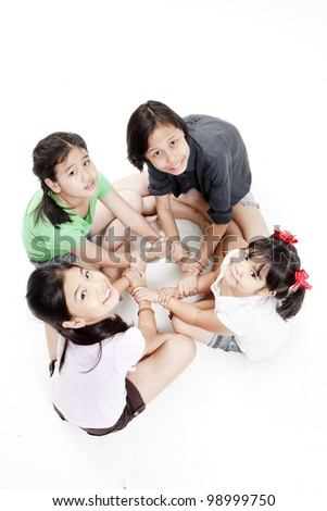 asian children(Unity concept) - stock photo
