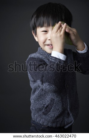 Asian Chinese child,handsome boy