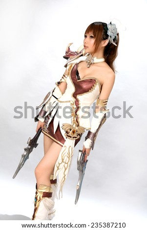 asian cosplay girl japanese style - stock photo