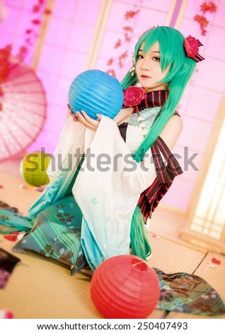 asian cosplay girl sakura Washitsu