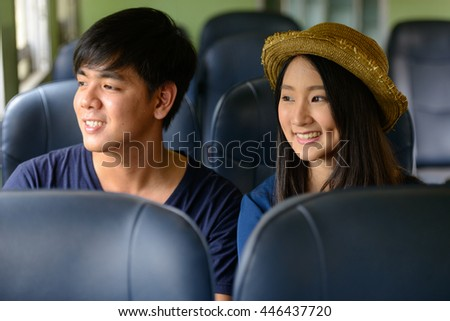 Asian couple travel