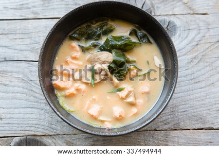 Asian cream soup