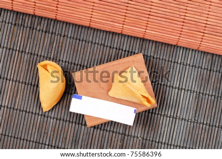 Asian Cuisine Fortune Cookie - stock photo