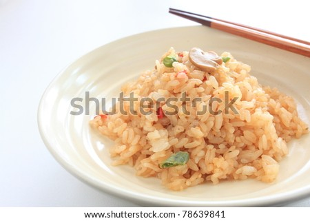 Asian cuisine, Mushroom and vegetable fried rice
