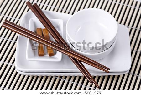 Asian dinnerware set. & Asian Dinnerware Set Stock Photo 5001376 - Shutterstock