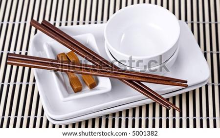 Asian dinnerware set. & Asian Dinnerware Set Stock Photo 5001382 - Shutterstock