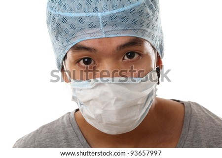 Asian doctor - stock photo