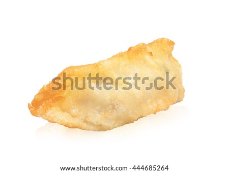 Asian dumplings , Gyoza isolated on white background. This has clipping path.