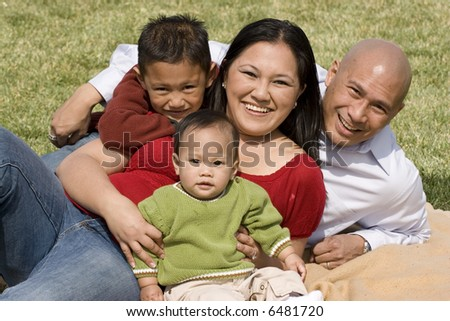 Asian Family at the park