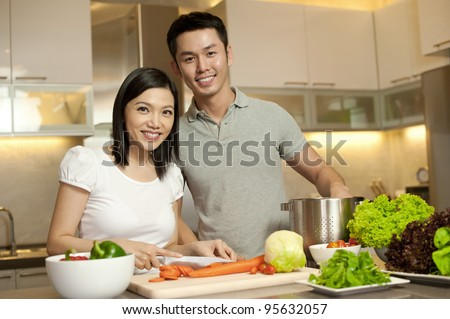 Asian Family Kitchen Lifestyle