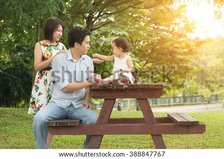 asian family outdoor