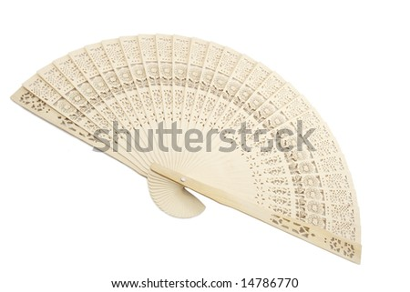 Asian fan isolated on white background
