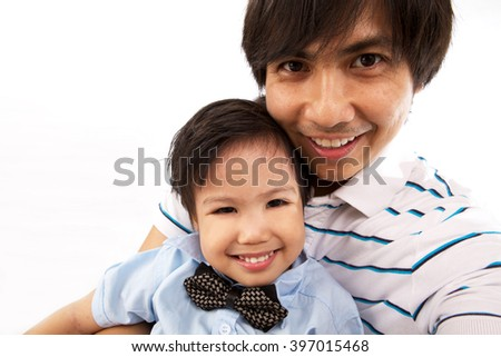 Asian Father And Son Self Portrait