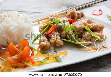 Asian food - stock photo