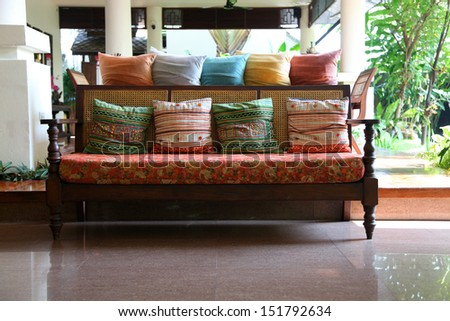 Asian furniture. - stock photo