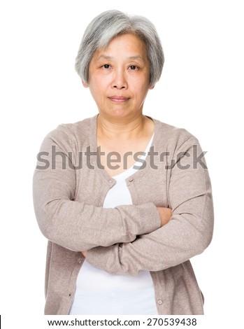 Asian grandmother - stock photo
