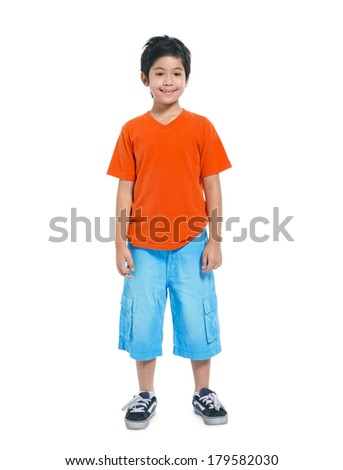 Asian Happy Boy Smiling - stock photo