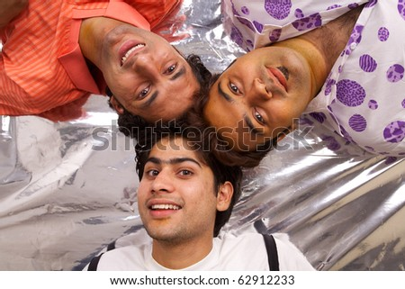 Asian happy young people - stock photo