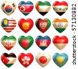 Asian Hearts - stock photo