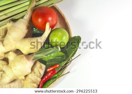 "Asian herb and spicy ""Tom Yum"" ingredients food"