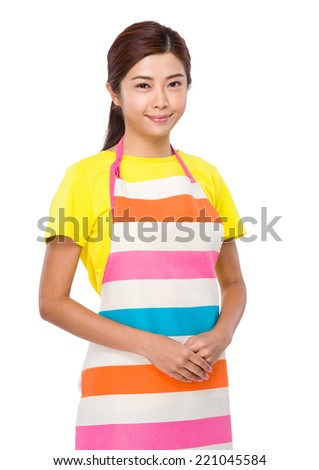 Asian housewife - stock photo