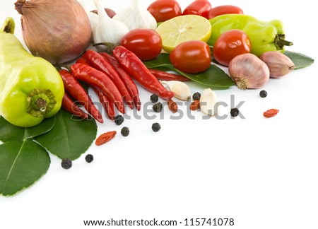 Asian ingredients food - stock photo