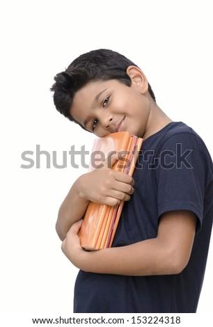 asian kid enjoying education smiling happily - stock photo