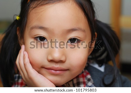 Asian little  girl