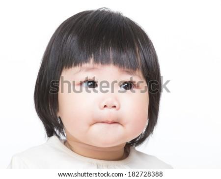 Asian little girl portrait - stock photo
